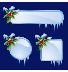 set from christmas frames vector image vector image