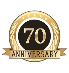 Seventy Year Anniversary Badge vector image vector image
