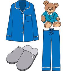 Sleeping clothes vector image vector image