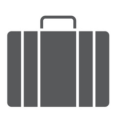 baggage glyph icon briedfcase and luggage vector image