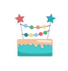 big cake happy birthday vector image vector image