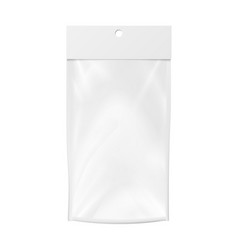 Plastic pocket blank realistic mock up vector