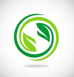 Recycle green leaf environment logo vector