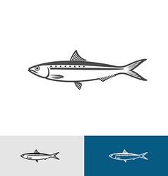 Sardine silhouette vector image vector image