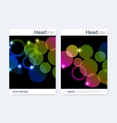 Business brochure design template flyer vector