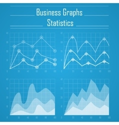 Business graph statistics vector image vector image