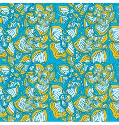 Flowers abstract seamless pattern vector image vector image