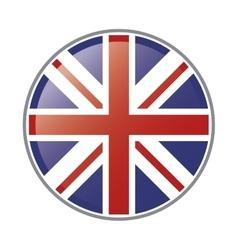 great britain flag emblem icon vector image