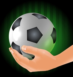 Holding the ball vector image vector image