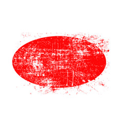red ellipse grunge stamp with blank siolated on vector image vector image