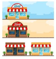 Facade exterior shop flat vector image vector image