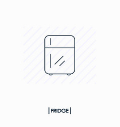 fridge outline icon isolated vector image