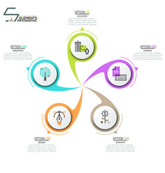 Modern infographic design layout vector