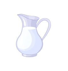 Pitcher With Fresh Milk Based Product Isolated vector image