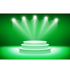 3d Green podium Pedestal Scene 3D vector