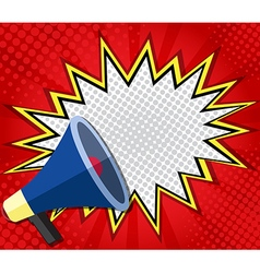 abstract boom blank speech bubble with megaphone vector image