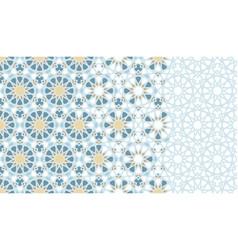 Arabesque tile mosaic repeating border vector