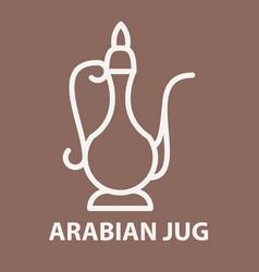 Arabian jug logo template vector