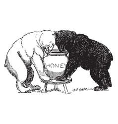 Bears 4 vintage vector
