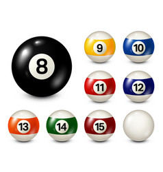 Billiard pool balls with numbers collection vector