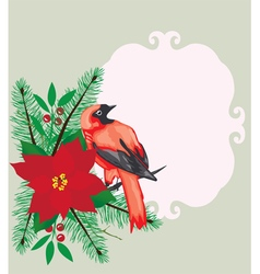 Bird frame Christmas vector