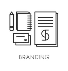 Brand or trademark creation branding technology vector