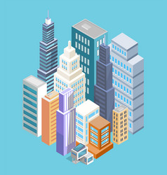 buildings of big city poster vector image