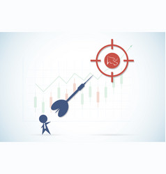 businessman throwing a dart to target vector image