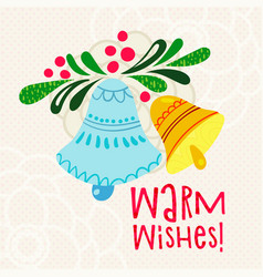 christmas greetings warm wishes vector image