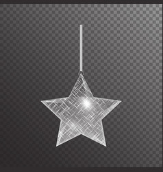 Christmas star with sparkles vector