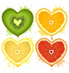 Citrus hearts vector