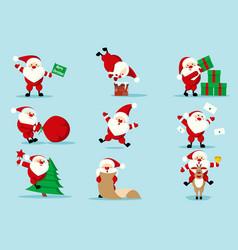 collection christmas santa claus vector image