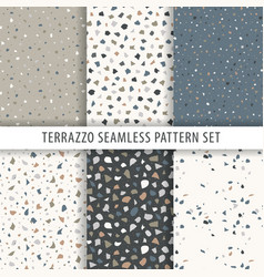 collection of terrazzo backgrounds seamless vector image