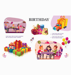 Colorful birthday party concept vector