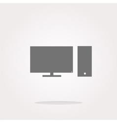 computer pc icon button vector image