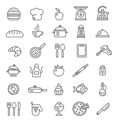 Cooking icons symbols vector