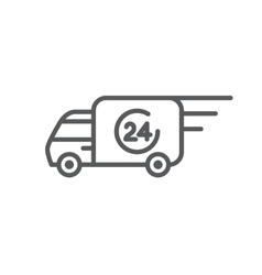 Delivery car icon vector image