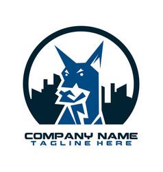 dog logo dog head icon cartoon dog logo dog vector image