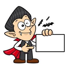 Dracula character has been directed towards vector