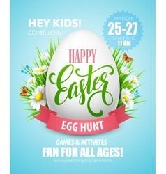 Easter egg hunt poster vector