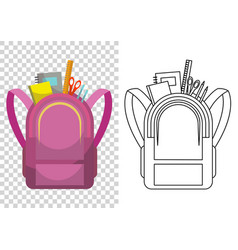 Education and study school backpack icon vector
