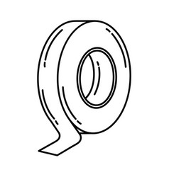 Electrical tape icon doodle hand drawn or outline vector