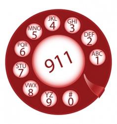 emergency dial disk vector image