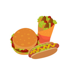 fast food sandwiches vector image