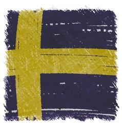 Flag of Sweden handmade square shape vector image