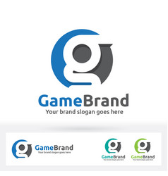 G letter brand logo g letter in a circle with vector