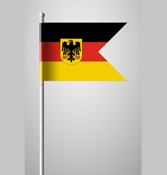 germany flag with coat of arms national flag on vector image