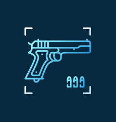 Gun concept colored icon in outline style vector