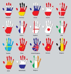 Hand flags vector