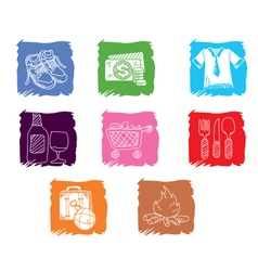 Icon activities vector